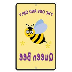 Hermosaa The One And Only Queen Bee Novelty Funny Aluminum M