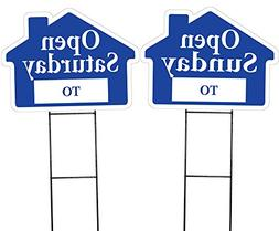 OPEN SATURDAY and OPEN SUNDAY House Shaped Sign Kit -