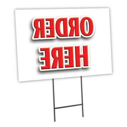 """ORDER HERE 12""""x16"""" Yard Sign & Stake outdoor plastic coropla"""