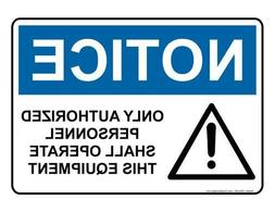 Liz66Ward OSHA Notice Sign Aluminum Metal Signs Funny Yard S