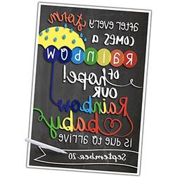 Katie Doodle PA007 Sign | Rainbow Baby | Birth Announcement,