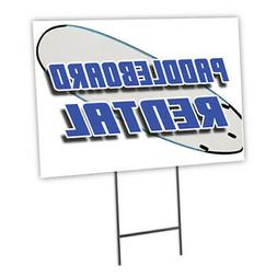 Paddle Board Rental Yard Sign & Stake outdoor plastic coropl