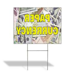 Paper Currency Outdoor Lawn Decoration Corrugated Plastic Ya