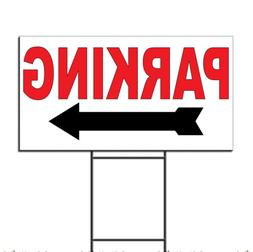 Parking Arrow Right Corrugated Plastic Yard Sign /Free Stake