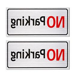 2-Pack No Parking Signs - Driveway Signs, Commercial Parking