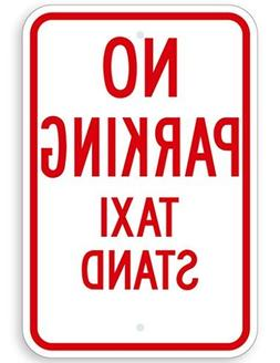 No Parking Taxi Stand Sign, Funny Yard Decorative Signs for