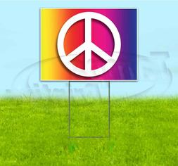 PEACE & LOVE 18x24 Yard Sign WITH STAKE Corrugated Bandit US