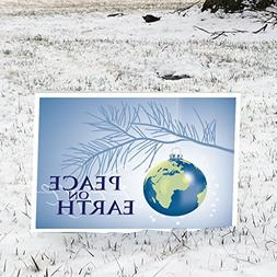 VictoryStore Outdoor Signs - Peace on Earth Christmas Yard S