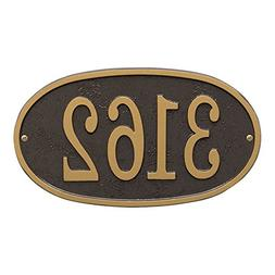 Whitehall Personalized Cast Metal Address Plaque - Custom Ho
