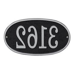 Personalized Cast Metal Oval House Number Custom Address Pla