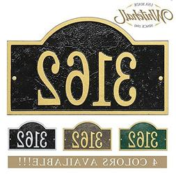 Personalized Cast Metal Address plaque with arch top. Four c