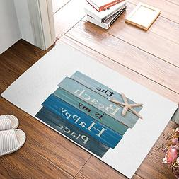 Funy Decor Personalized Door Mats The Beach Is My Happy Plac