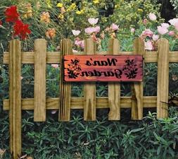 Personalized Garden Yard Sign - Custom carved Cedar -Wood-We
