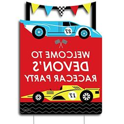 Big Dot of Happiness Personalized Let's Go Racing - Raceca