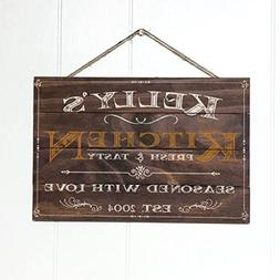 Artblox Personalized Rustic Kitchen Wood Sign Home Decor - V