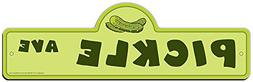 SignMission Pickle Street Sign | Indoor/Outdoor | Funny Home