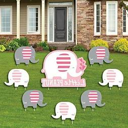 Pink Elephant - Yard Sign & Outdoor Lawn Decorations - G