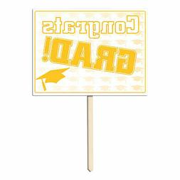 Plastic Congrats Grad Yard Sign  Party Accessory