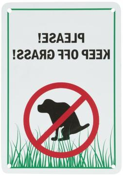 """SmartSign Plastic Sign, Legend""""Please! Keep Off Grass!"""" with"""