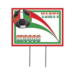 Beistle Plastic Yard Sign, 12-Inch by 16-Inch, Italy