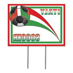 beistle Plastic Yard Sign - Italy