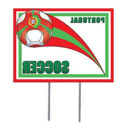 beistle Plastic Yard Sign - Portugal