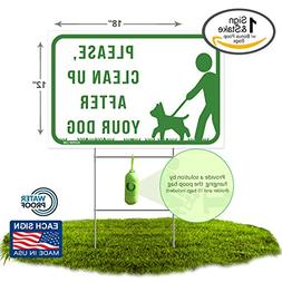 Raising Sails Print Please Clean Up After Your Dog Sign