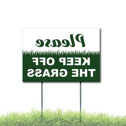 Please Keep Off The Grass Sign Coroplast Plastic Outdoor Win