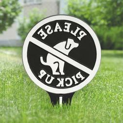 Whitehall Please Pick Up No Poop Dog Aluminum Yard Sign