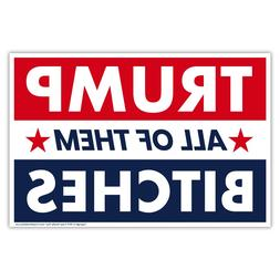 Political Campaign Yard Sign w/Stake - Donald Trump 2020 - D