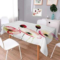 Anmaseven Poppy Rectangle Customized Tablecloth Stylised Dif