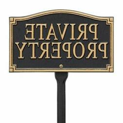 Whitehall Products Private Property Garden Yard Lawn Sign Bl