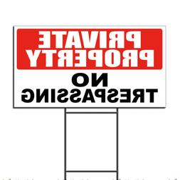Private Property No Trespassing Corrugated Plastic Yard Sign