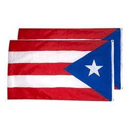 Juvale Puerto Rico Flags - 2-Piece Outdoor 3x5 Feet Puerto R