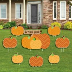 Big Dot of Happiness Pumpkin Patch - Yard Sign and Outdoor L