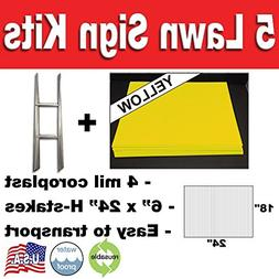 quantity blank yellow yard signs