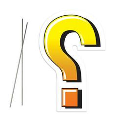 Question Mark Yard Sign With Metal Stakes