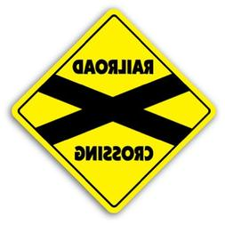 railroad crossing sign novelty train