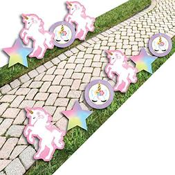 Rainbow Unicorn - Star and Unicorn Lawn Decorations - Outdoo