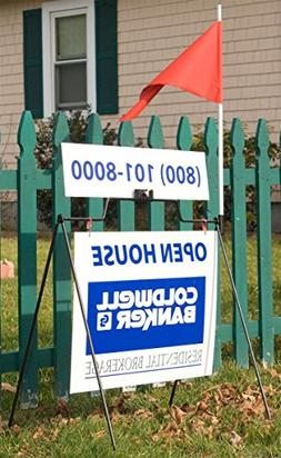 Displays2go Real Estate Sign Holders, 24 x 18 Inches, Set of