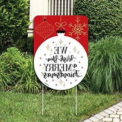 Big Dot of Happiness Red and Gold Friendsmas - Party Decorat
