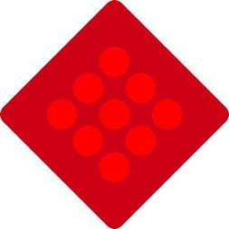 Red Reflector Warning Signs- 18x18