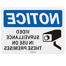 Ronteix 24 Hour Video Surveillance Warning Sign, Security Si