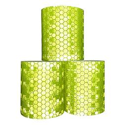 Viewm Reflective Tape 3 Rolls Safety Warning Tapes 2 inch ×