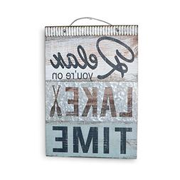 Barnyard Designs Relax You're On Lake Time Nautical Wooden P
