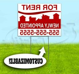 FOR RENT APPOINTED CUSTOM 18x24 Yard Sign WITH STAKE Bandit