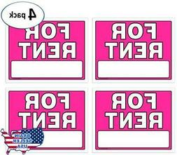For Rent Signs, 11 x 14 Inch, Neon Fluorescent Pink, Pack of
