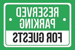 Reserved Parking for Guests Print Green White and Black Noti