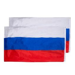 Juvale Russia Flags - 2-Piece Outdoor 3x5 Feet Russia Flags,