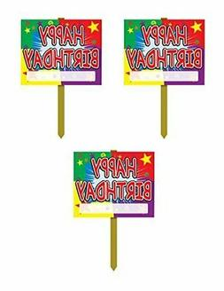 Beistle S55911AZ3 Yard Signs Party Decorations, 3 piece, Mul